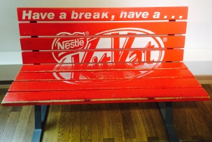 Kit Kat Bench in Chocolate Museum Cologne