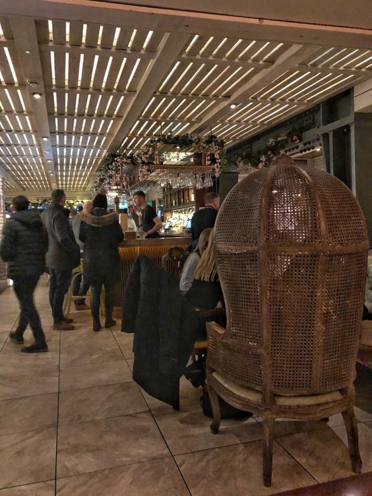 Inside the bar at Copper Blossom Edinburgh