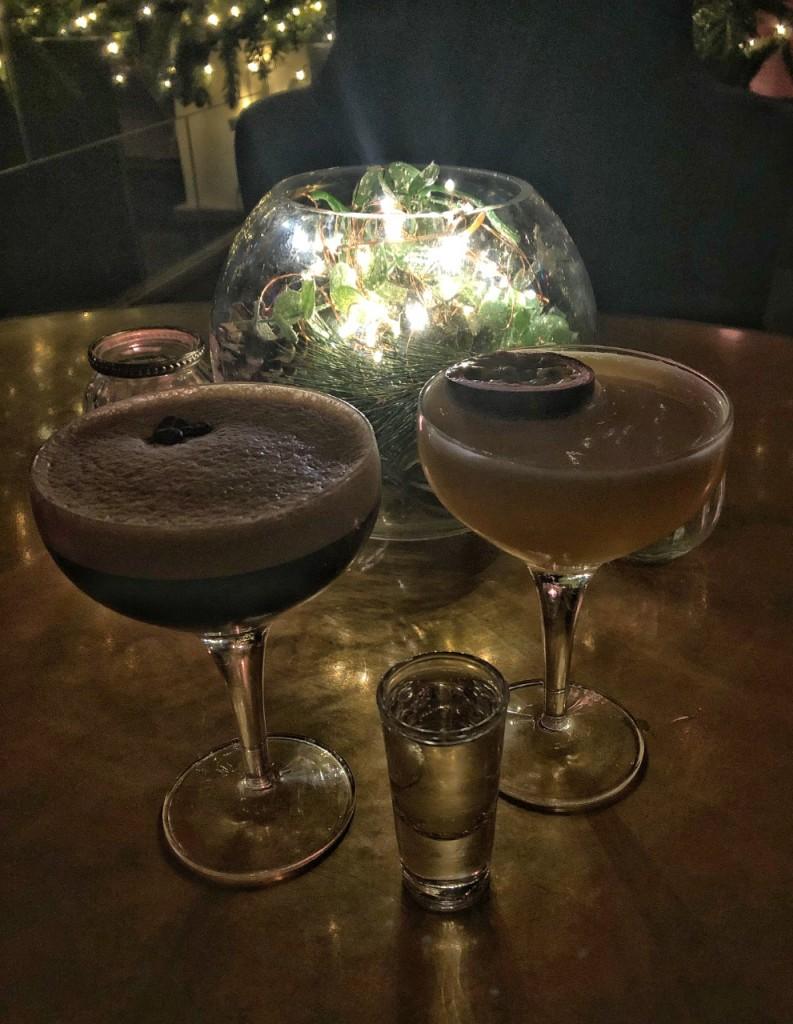 Pornstar Martini and Espresso Martini at Tigerlily Edinburgh