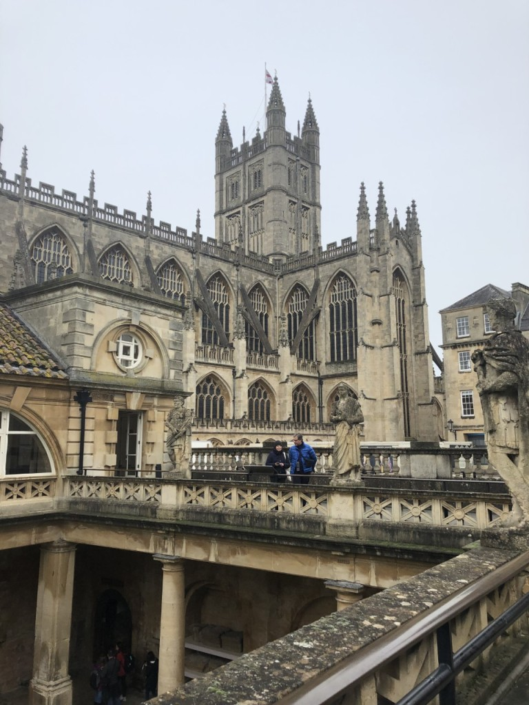 Exterior views of Bath Abbey