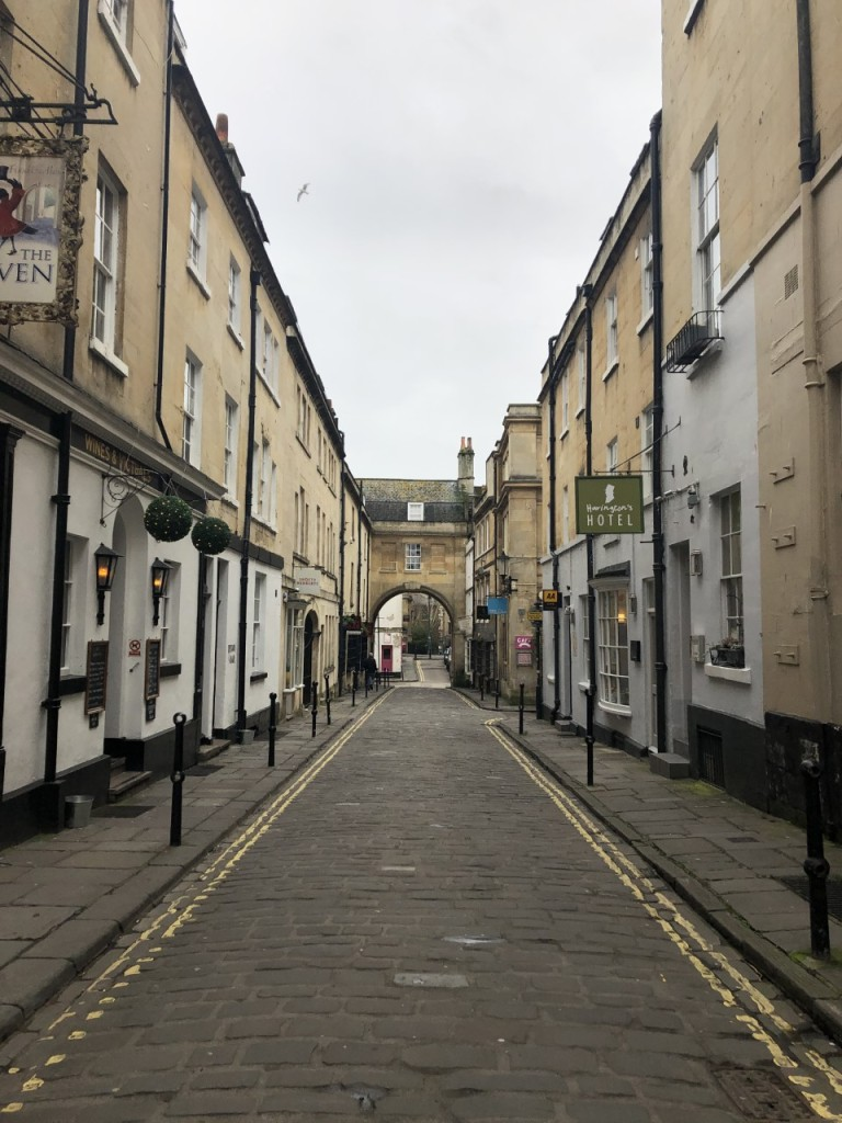 Street view of Haringtons Hotel Bath