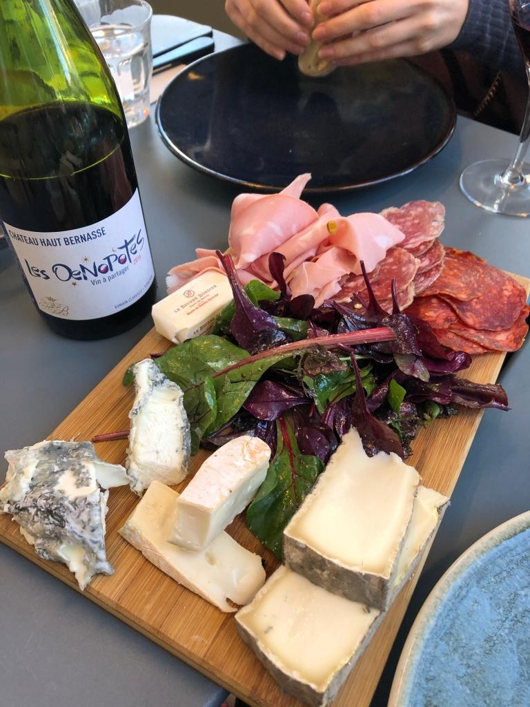 Wine and cheese at La Maison Plisson