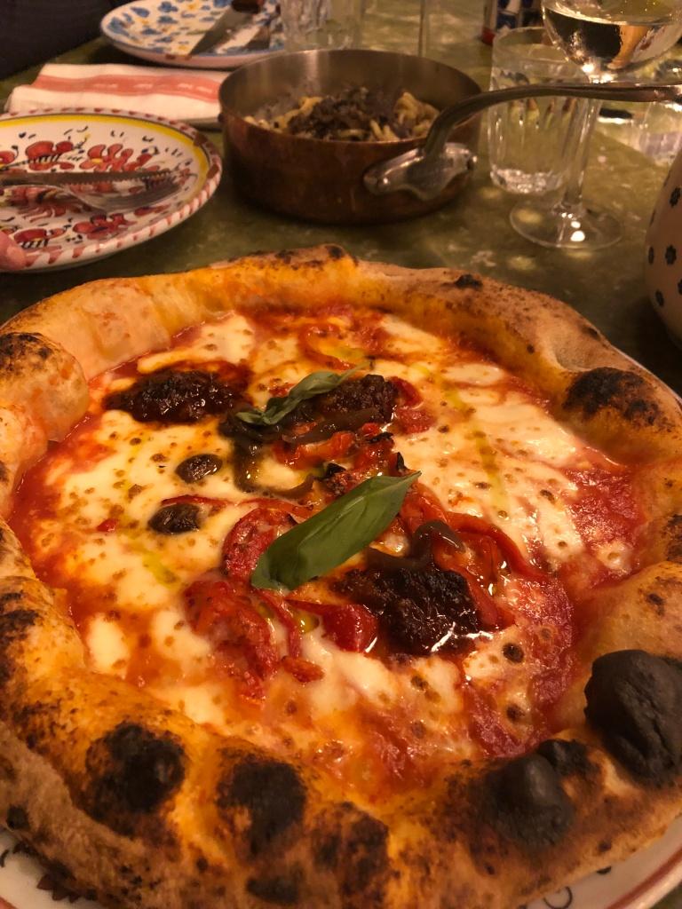 Nduja pizza at Big Mamma Paris
