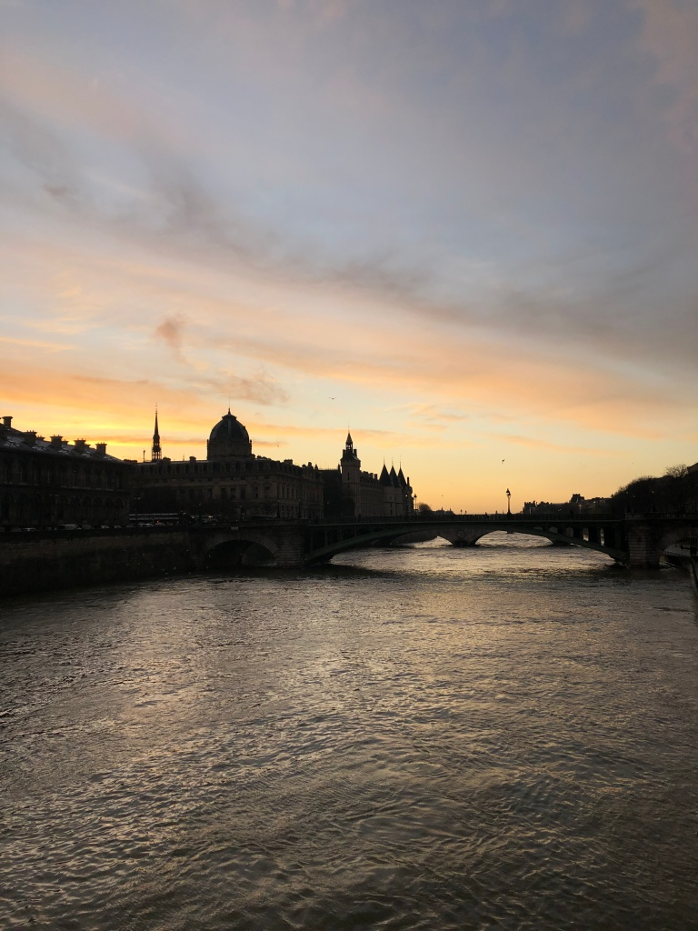 River Seine at dusk