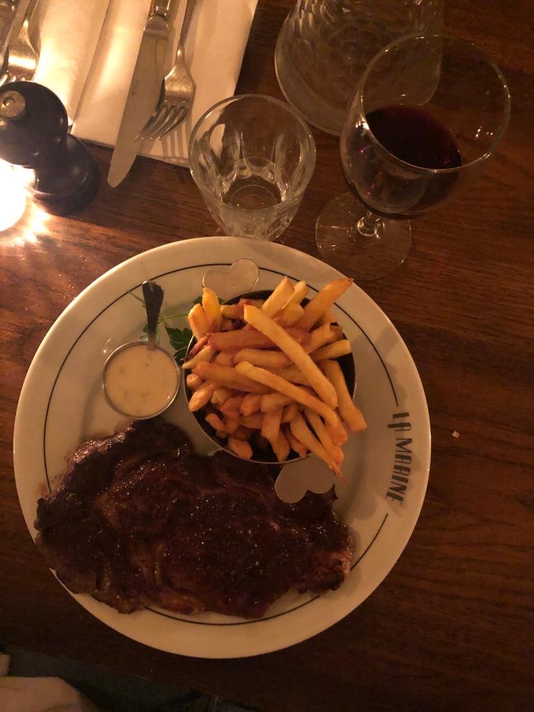 Dinner at La Marine Paris