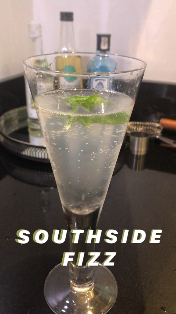 Southside Fizz cocktail