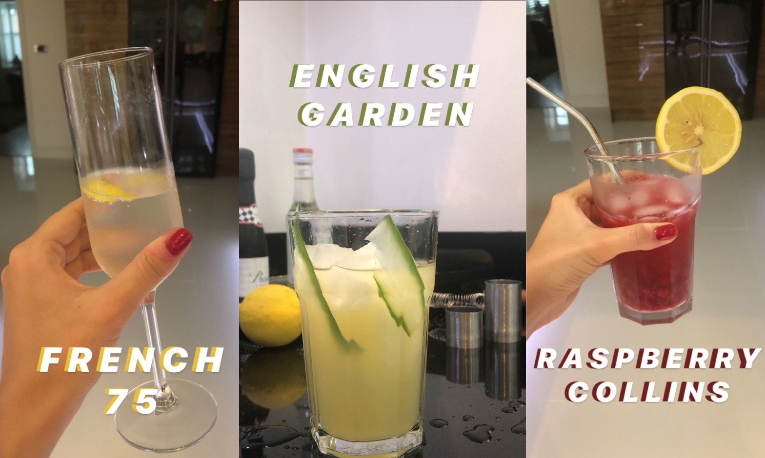 Travel inspired gin cocktails