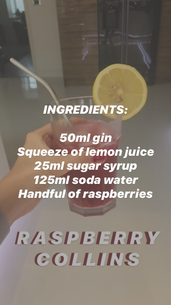 Raspberry Collins ingredients